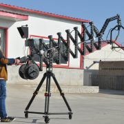 telescopic folding jib crane