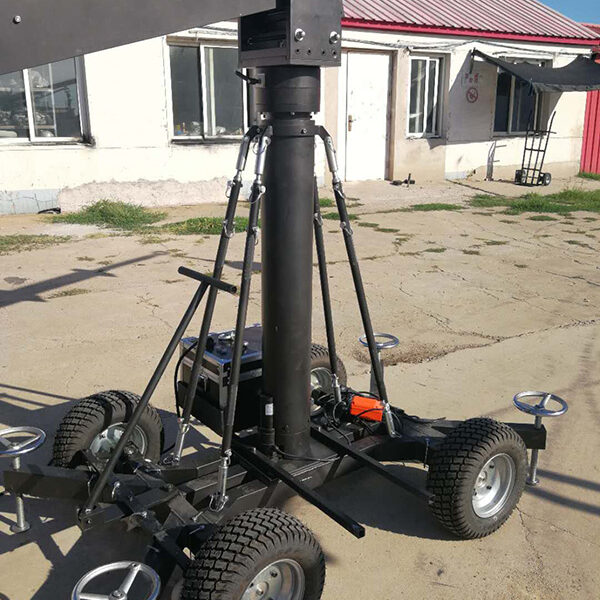 motorized adjusted dolly with inflatable wheels